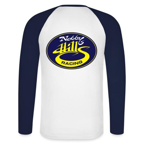 nobbyhillsracinglogo - Men's Long Sleeve Baseball T-Shirt