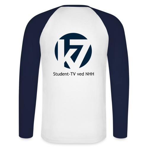 studenttv sort font gif - Langermet baseball-skjorte for menn