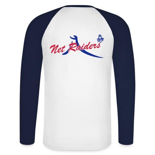 Logo Netraides Colori BIG - Maglia da baseball a manica lunga da uomo