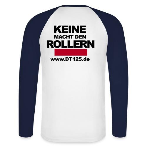roller black - Männer Baseballshirt langarm