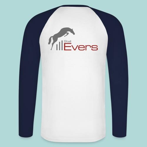 evers-logo-mit-pferd-farb - Männer Baseballshirt langarm
