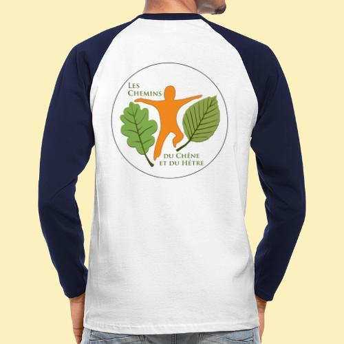 Logo des Chemins du Chêne et du Hêtre - T-shirt baseball manches longues Homme
