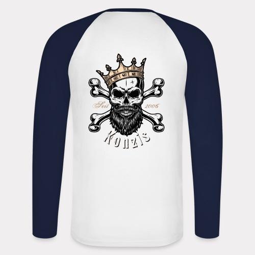 Skull Bones Logo - Männer Baseballshirt langarm