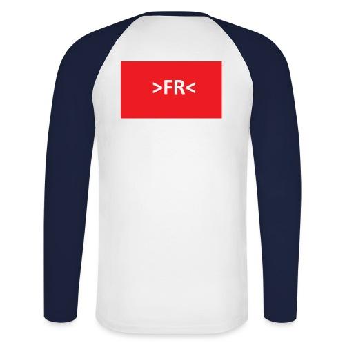 >FR< - Langærmet herre-baseballshirt