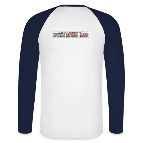 staat gross - Männer Baseballshirt langarm