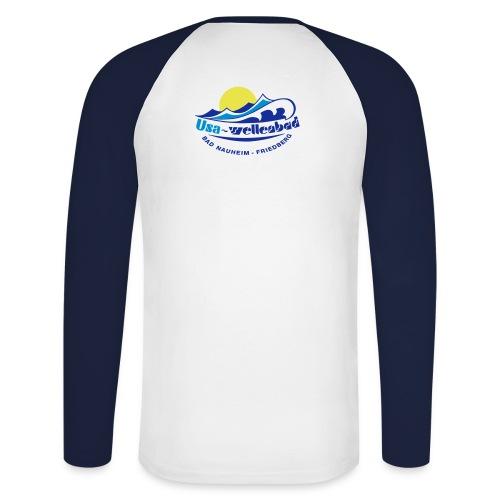 logo usa wellenbad - Männer Baseballshirt langarm