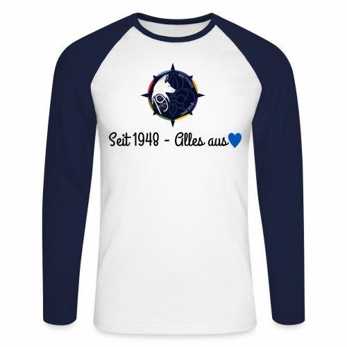 Pulli schwarz png - Männer Baseballshirt langarm