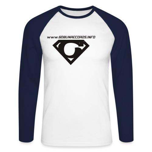 gr logo - Koszulka męska bejsbolowa z długim rękawem