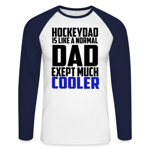 hockeydad - Langermet baseball-skjorte for menn