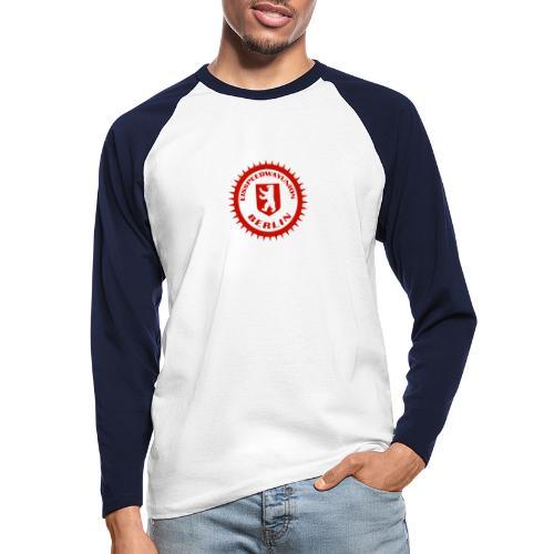 Logo in Rot Weiß - Männer Baseballshirt langarm