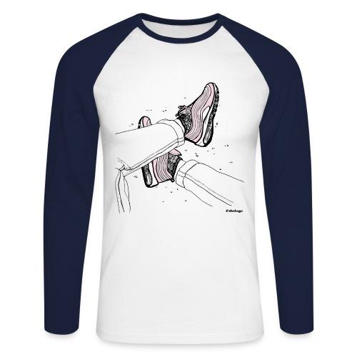 AM97 andtheboys - Langermet baseball-skjorte for menn