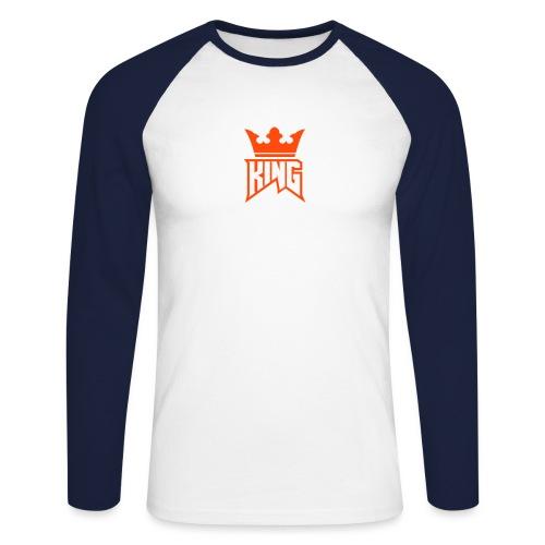 Duo Logo - Men's Long Sleeve Baseball T-Shirt