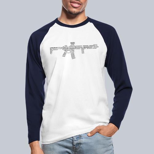 TXT RIFLE (BLACK) - REAPERs Airsoft - Männer Baseballshirt langarm