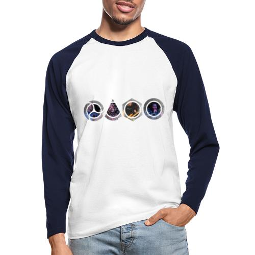 Mask NBG - Men's Long Sleeve Baseball T-Shirt