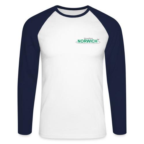 Streetpass NEW FOR PRINT greenandgrey png - Men's Long Sleeve Baseball T-Shirt