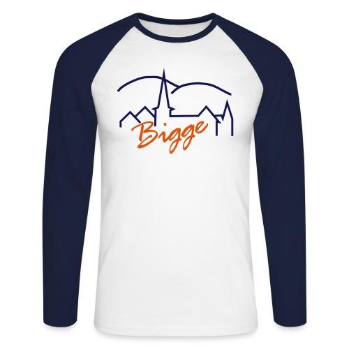biggetshirtdruck - Männer Baseballshirt langarm