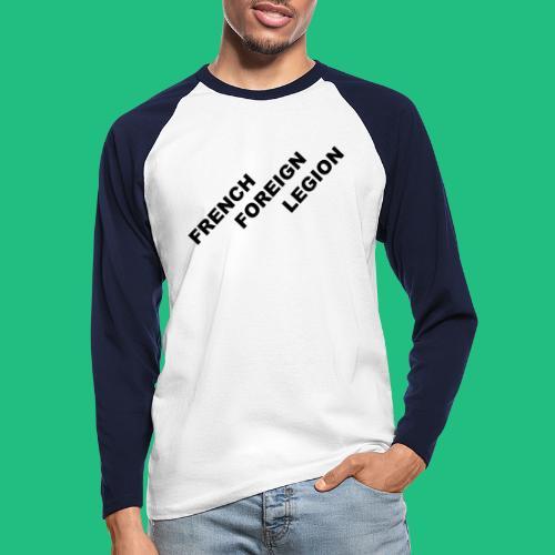 logo lettres decale noir - T-shirt baseball manches longues Homme
