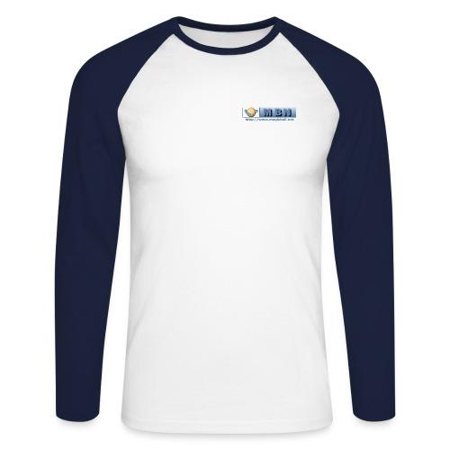 Shirt Button - Men's Long Sleeve Baseball T-Shirt
