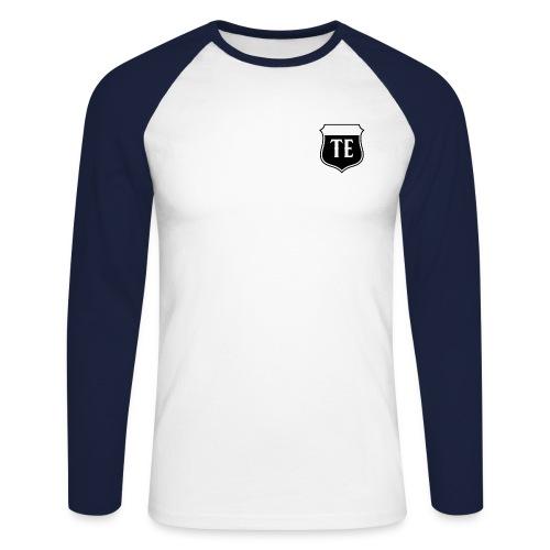 White Logo - Men's Long Sleeve Baseball T-Shirt