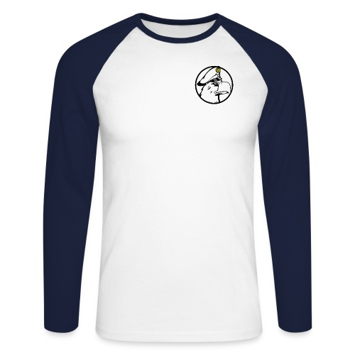 Adler Rund Weis - Männer Baseballshirt langarm