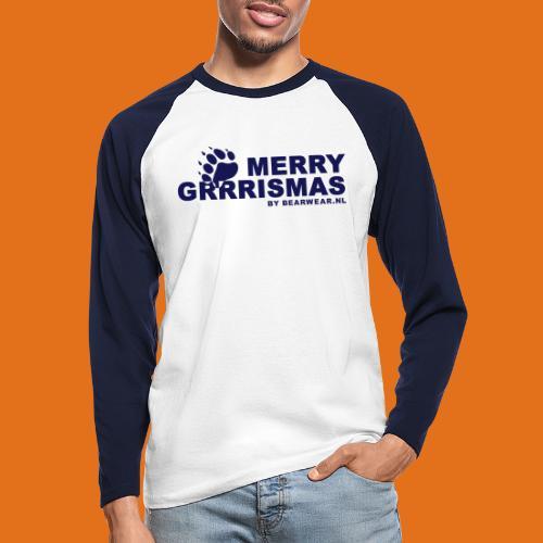 grrrismas - Men's Long Sleeve Baseball T-Shirt