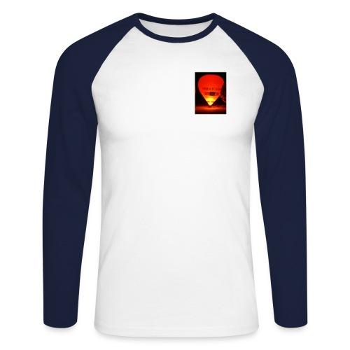 Chateau-d'oex NIght Balloon Sml 120dpi - Men's Long Sleeve Baseball T-Shirt