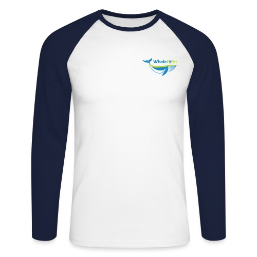 WF Logo With Strap WHITE png - Men's Long Sleeve Baseball T-Shirt