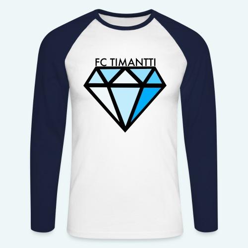 FC Timantti mustateksti - Miesten pitkähihainen baseballpaita