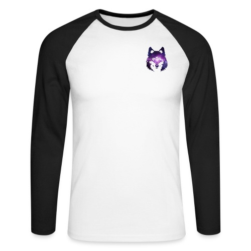 Galaxy wolf - T-shirt baseball manches longues Homme