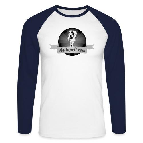 Nelinpelin logo MV - Miesten pitkähihainen baseballpaita