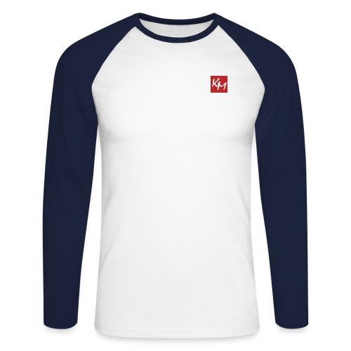 km - Men's Long Sleeve Baseball T-Shirt