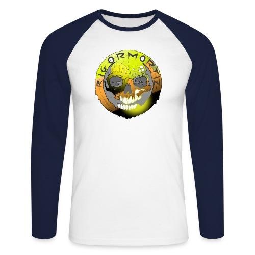 Rigormortiz Metallic Yellow Orange Design - Men's Long Sleeve Baseball T-Shirt