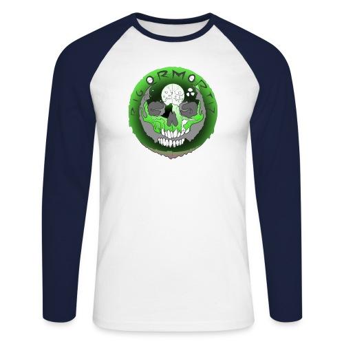 Rigormortiz Metallic Green Design - Men's Long Sleeve Baseball T-Shirt