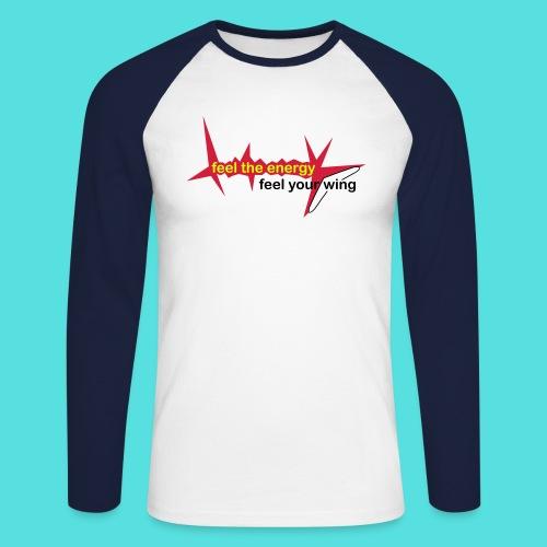 feel_the_energy - Männer Baseballshirt langarm