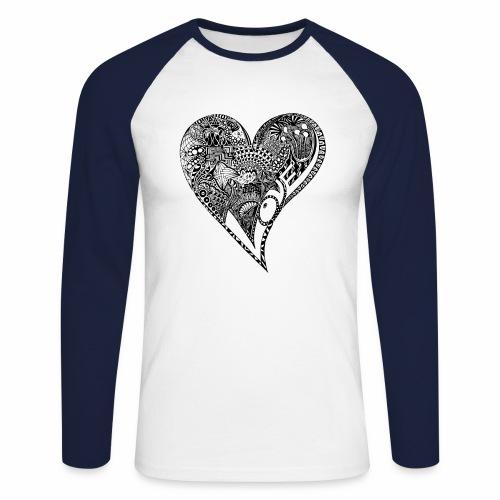 Heart black - Männer Baseballshirt langarm