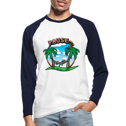 PAUSE ...... - T-shirt baseball manches longues Homme