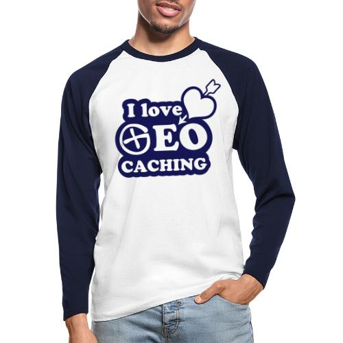 I love Geocaching - 1color - 2011 - Männer Baseballshirt langarm
