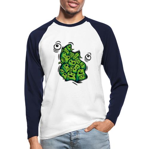 Getting Outside (green version) - Men's Long Sleeve Baseball T-Shirt