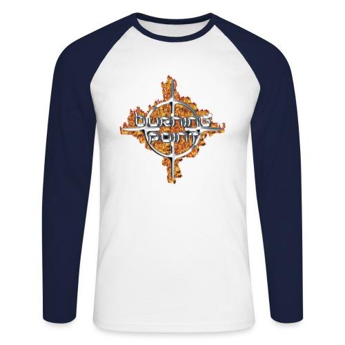 fire logo03 - Men's Long Sleeve Baseball T-Shirt