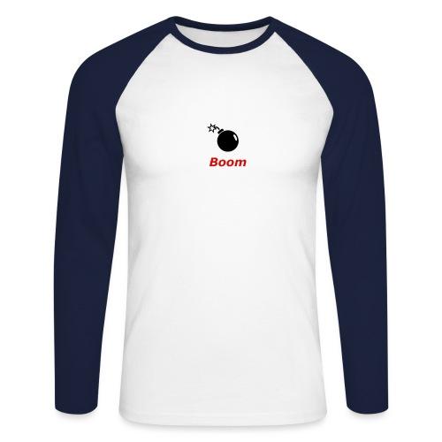 Bomba - Koszulka męska bejsbolowa z długim rękawem