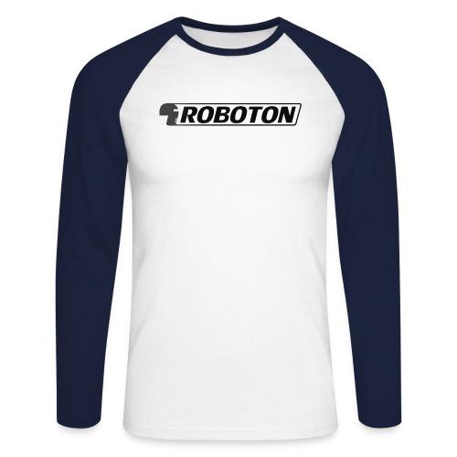 logoRobotonmitkopf schwarz png - Men's Long Sleeve Baseball T-Shirt