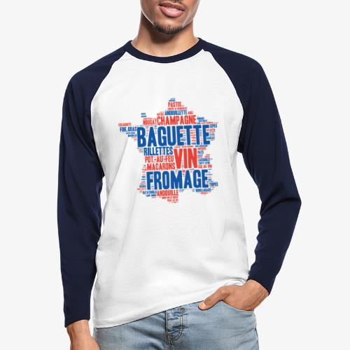 France 2 couleurs - T-shirt baseball manches longues Homme