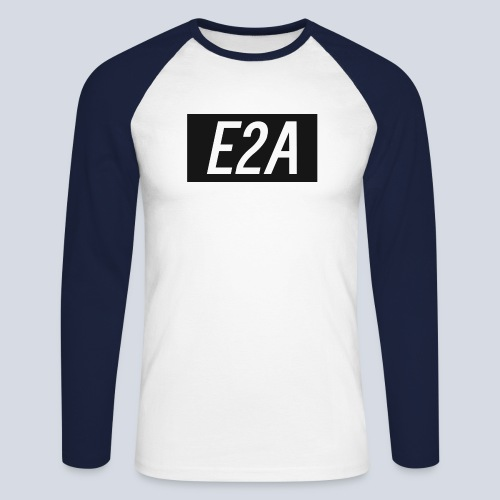 E2A SHIRT LOGO - Men's Long Sleeve Baseball T-Shirt
