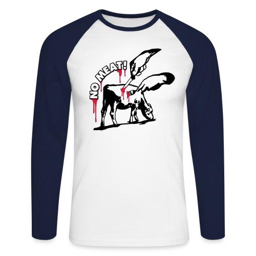 nomeat01_3cv2a_225x225 - Männer Baseballshirt langarm