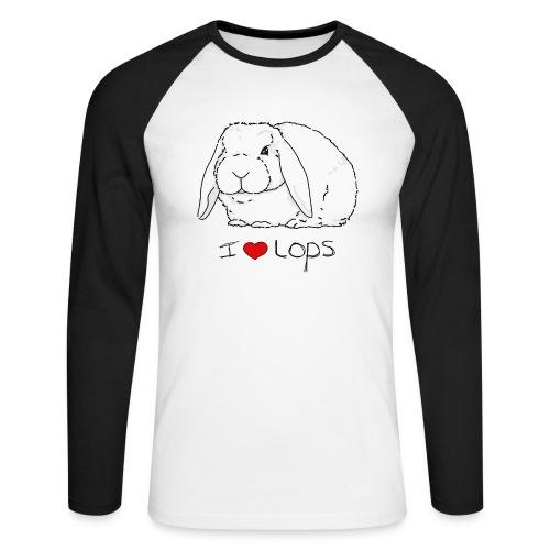 I Love Lops 2 - Men's Long Sleeve Baseball T-Shirt