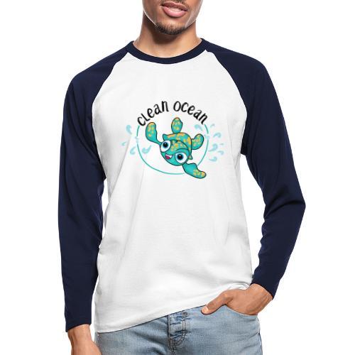 Clean Ocean - Men's Long Sleeve Baseball T-Shirt