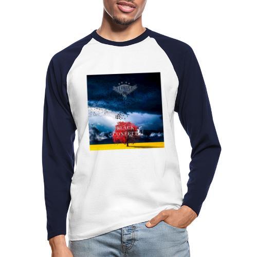 Black Confetti Promo Design - Men's Long Sleeve Baseball T-Shirt