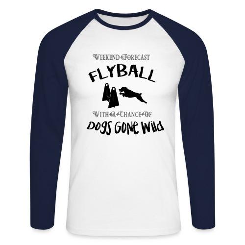 Flyball_08 - Men's Long Sleeve Baseball T-Shirt