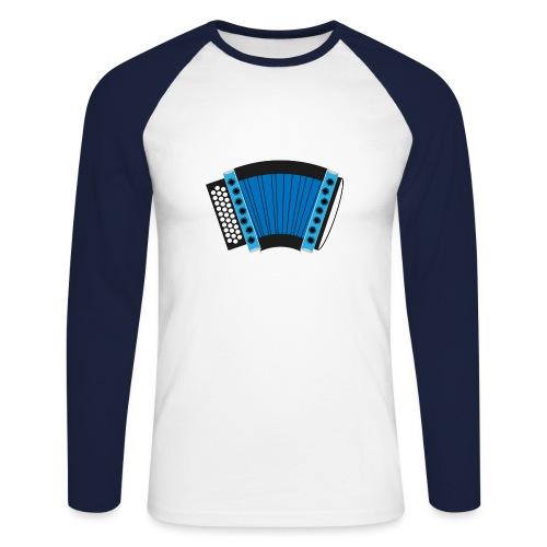 Schwyzerörgeli schwarz/blau - Männer Baseballshirt langarm