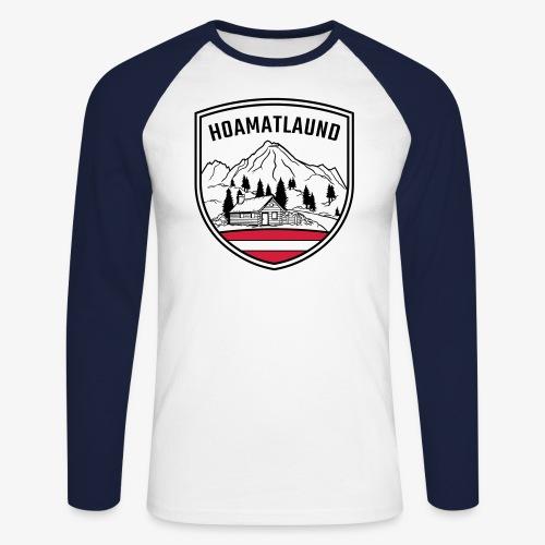 Hoamatlaund logo - Männer Baseballshirt langarm